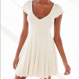 Kimchi blue sand dollar white ribbed dress size S